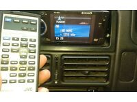 JVC stereo/cd/dvd player with manual and remote control.