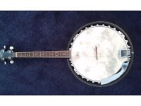 Barnes and Mullins Banjo 'Perfect' Gaelic-Irish Tenor 4 String with hard case used