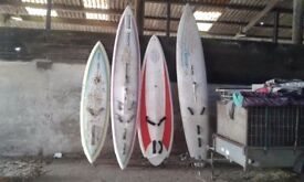 Old type windsurfing boards