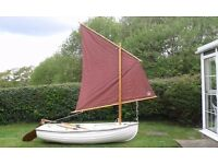 Traditional Norfolk Fibreglass Dinghy - Sail/Row/Outboard + Trailer