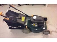 Powerforce petrol lawnmower for sale.Excellent condition