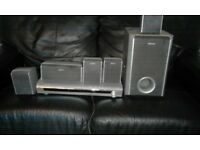 Sony Subwoofer for Home Theater 4 stands 6 speakers