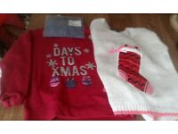 Two new christmas jumpers age 5-6
