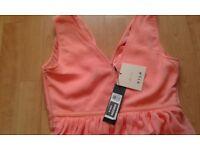 BRAND NEW SZ L PEACH DRESS