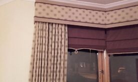 CURTAINS, BLINDS AND PELMET