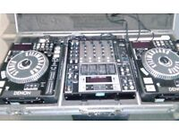 Denon DN-S5000 mixer and flight case