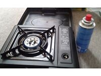 Camping gas, Portable Cooker NEW (never used) + 2 full gas cylinders!