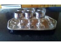 EPNS shot cups and tray
