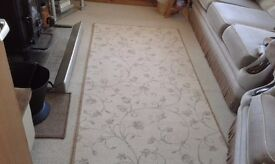 Nearly new beige patterned rug