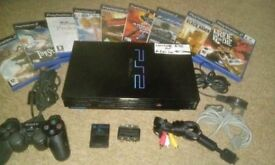 ps2 console inc controller and 9 games
