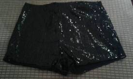 Ladies black shorts never worn