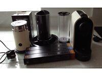 Nespresso machine and aerator cream