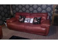 3 + 2 itailian heavy leather sofas smoke and pet free home needs gone asap £100