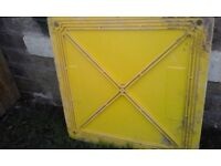 Hole safety barrier, and heavy duty hole cover