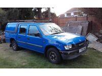 1999 (T) Vauxhall Brava Pick-up.2.5 D. 4 door, 2WD.Truckman top, MOT OCT 17.