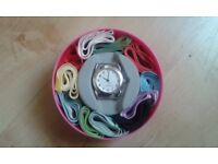 Women's watch with ribbon straps