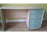 Writing desk, height 72cm, width 120cm, depth 48cm, in Willesden, NW10