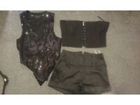 RIVER ISLAND waistcoat vest and short and corset