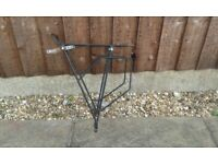 A selection of Rear Bike carriers constructed from steel and aluminium