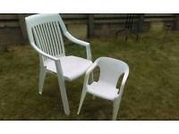 Garden chairs plastic adult and kids