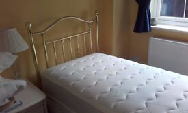 3' SINGLE BED WITH HEADBOARD - IN 'AS NEW' CONDITION