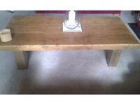 HAND MADE RUSTIC HEAVY WOOD COFFEE TABLE