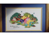 X2 Winnie the pooh hand sown pictures