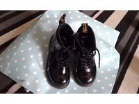 Infant size 8 black paton doc martins in vgc