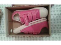 Brand New Girls Pink Clarks Trainers 10F