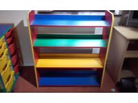 child's / preschool / nursery rainbow storage unit /book Cases - 2 available
