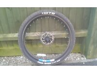 For sale MTB wheel and Tyre only used once both as new