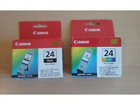 Canon Printer Ink BCL-24 black and BCL-24 colour
