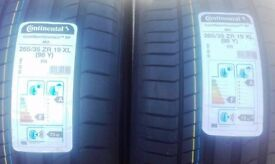 2 BRAND NEW TYRES - CONTINENTAL SPORT CONTACT 5 265/35 ZR 19 XL