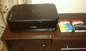 Pixma Canon printer with black and colour cartridges