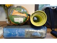 Sleeping bag, mat, and tent (£20 for all three)