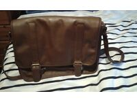 French Connection Brown Male Satchel Messenger Bag