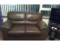 3 and 2 seater leather sofas, in excellent condition.