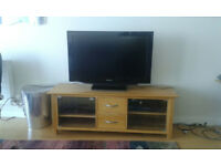TV/media unit, solid oak, excellent condition