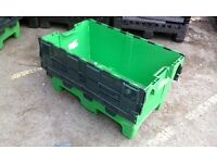 Large lidded crates 200lts size