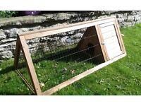 Guinea pig, rabbit hutch, triangular shape. Good condition.