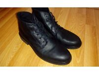 Mens Black leather boots, River Island, Size 11 UK worn once, RRP £70