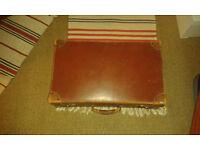 Vintage 1930's Gentlemens Leather Suitcase Rare Travel Case.