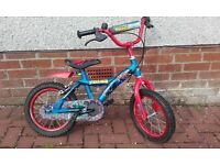 Ideal Christmas Present - Kids Spider Man Bike (with matching helmet for free!) Suit 4 to 6 year old