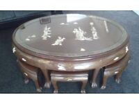 chinese coffee table & chairs