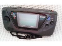 Original Black Sega Game Gear Console (Retro/Vintage).