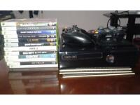 XBox 360, 2 Controllers, 12 Games - v good condition