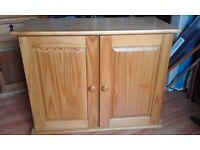 Solid pine topbox for single wardrobe