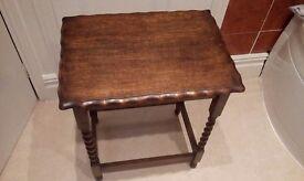 Antique Barley twist legs table