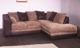 SAME DAY FAST DELIVERY ---- Brand New Byron 3 nd 2 sofa or corner sofa in jumbo cord fabric