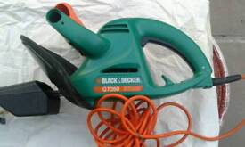 Electric black decker hedge trimmer gt360 and flat file and extra car brush